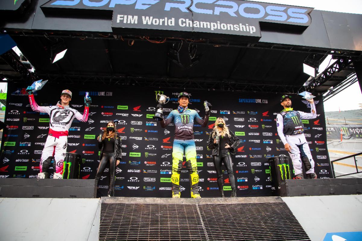 250SX Class podium - Salt Lake City 1 SX