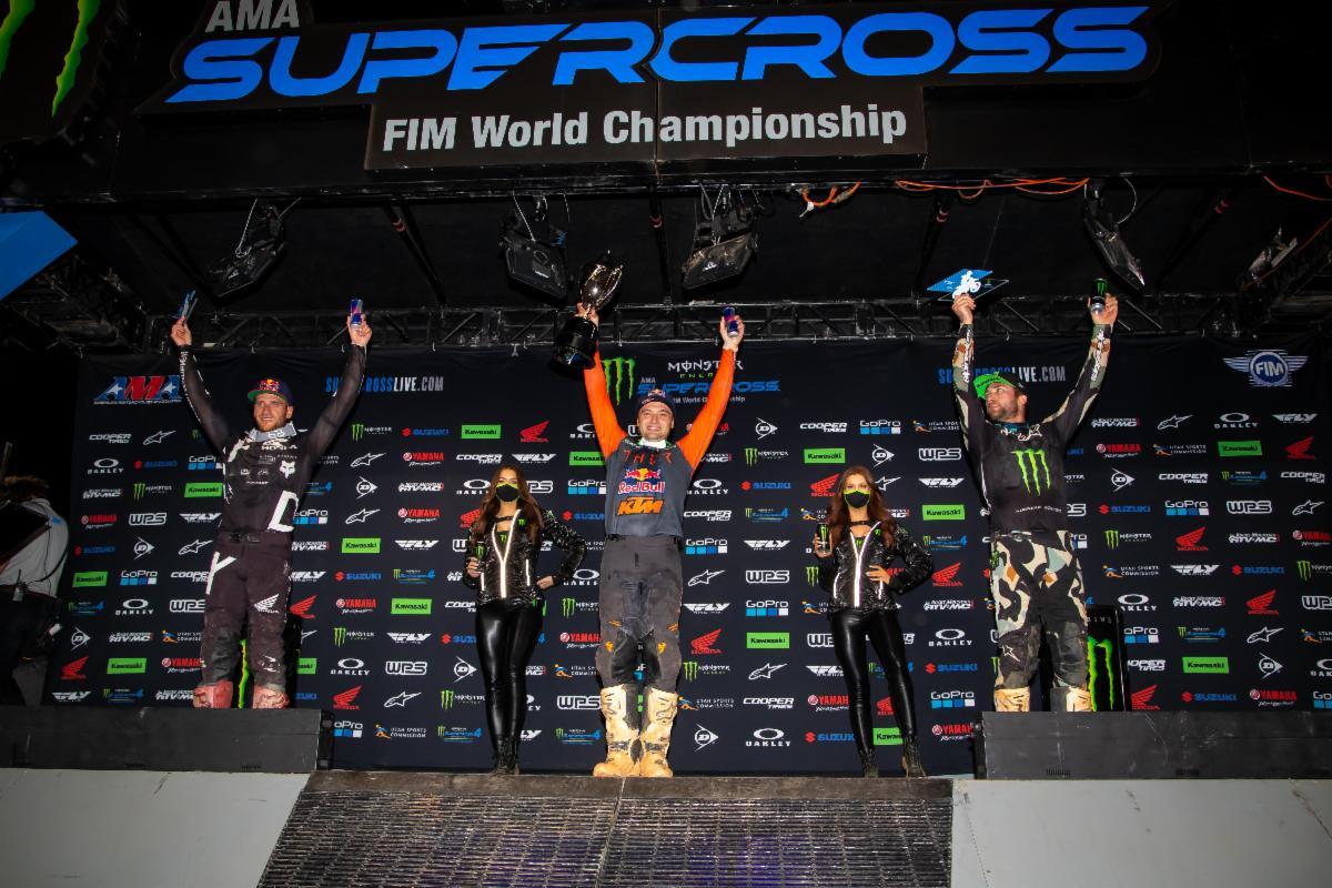 450SX Class podium - Atlanta 3