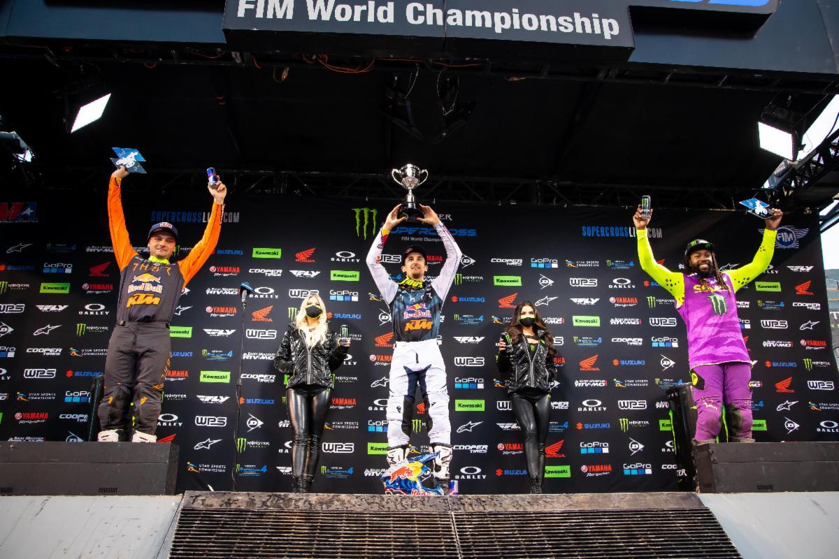 450SX Class podium - Salt Lake City 1 SX