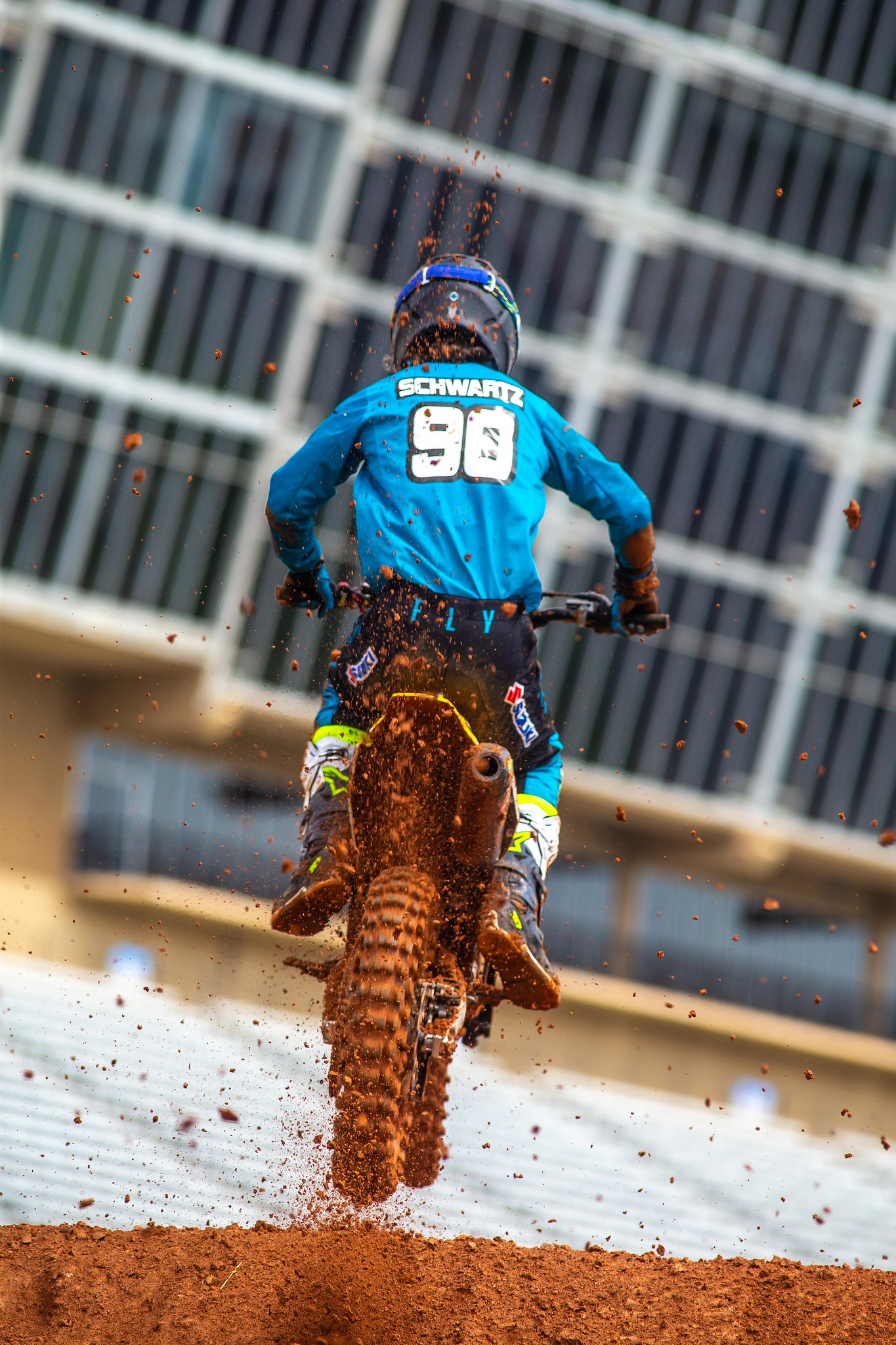 Dilan Schwartz (90) delivered fast laps in his qualifying session in Atlanta