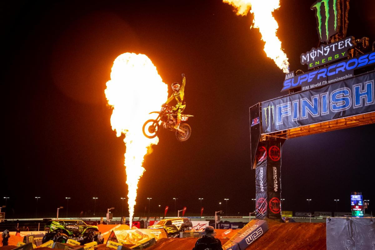 Justin Cooper kept clear of the drama with a championship-focused ride - Atlanta 2