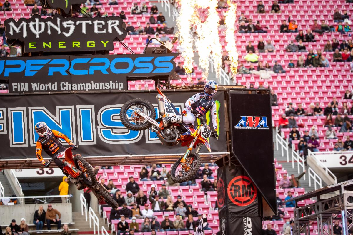 Marvin Musquin (#25) grabbed his first win since Round 12 of 2019 - Salt Lake City 1 SX