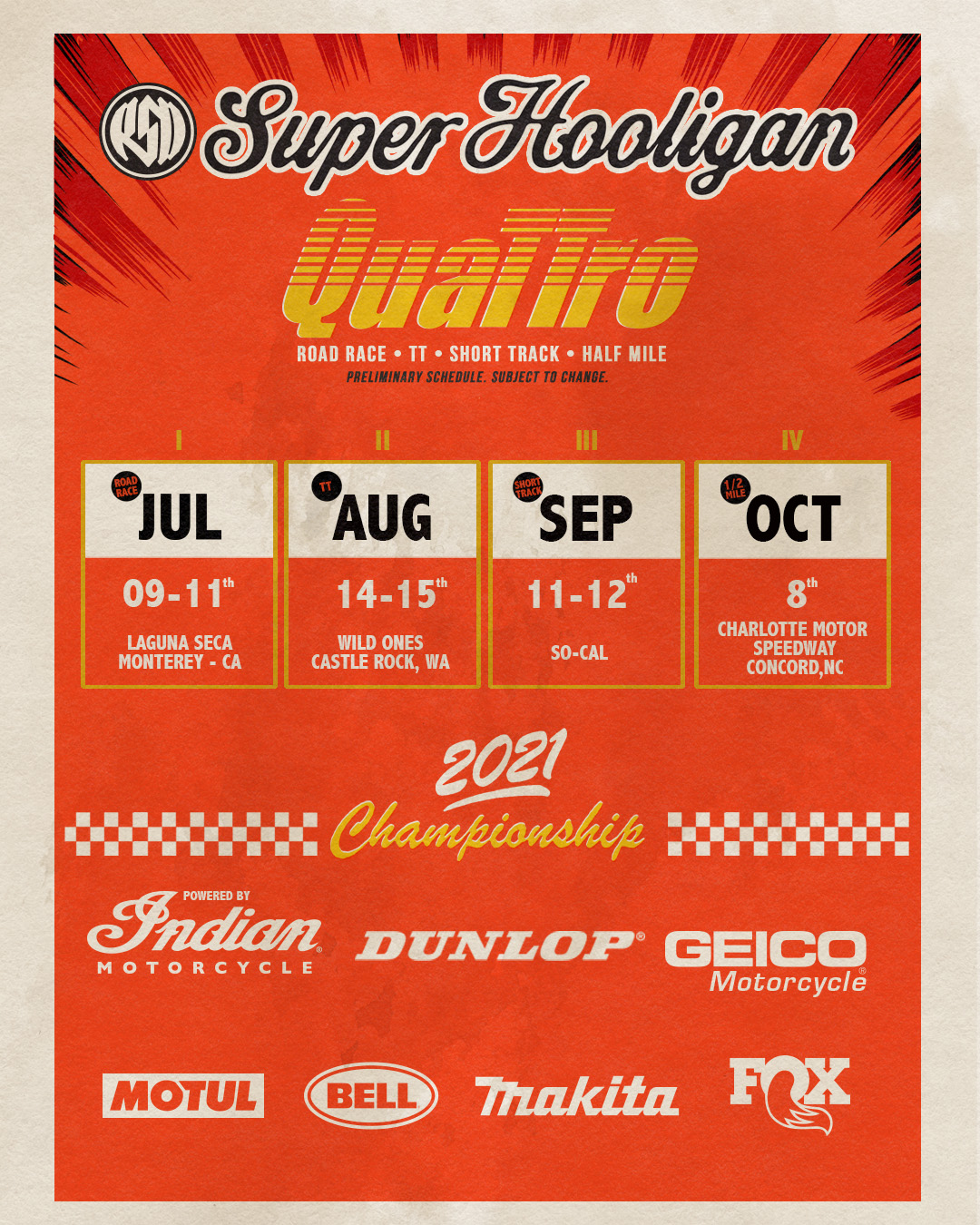 2021 Super Hooligan National Championship poster