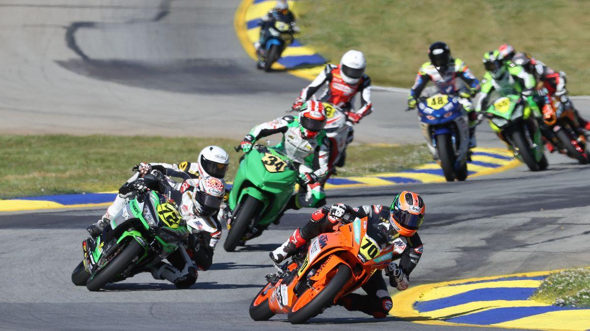 210502 Tyler Scott (70) won the SportbikeTrackGear.com Junior Cup race