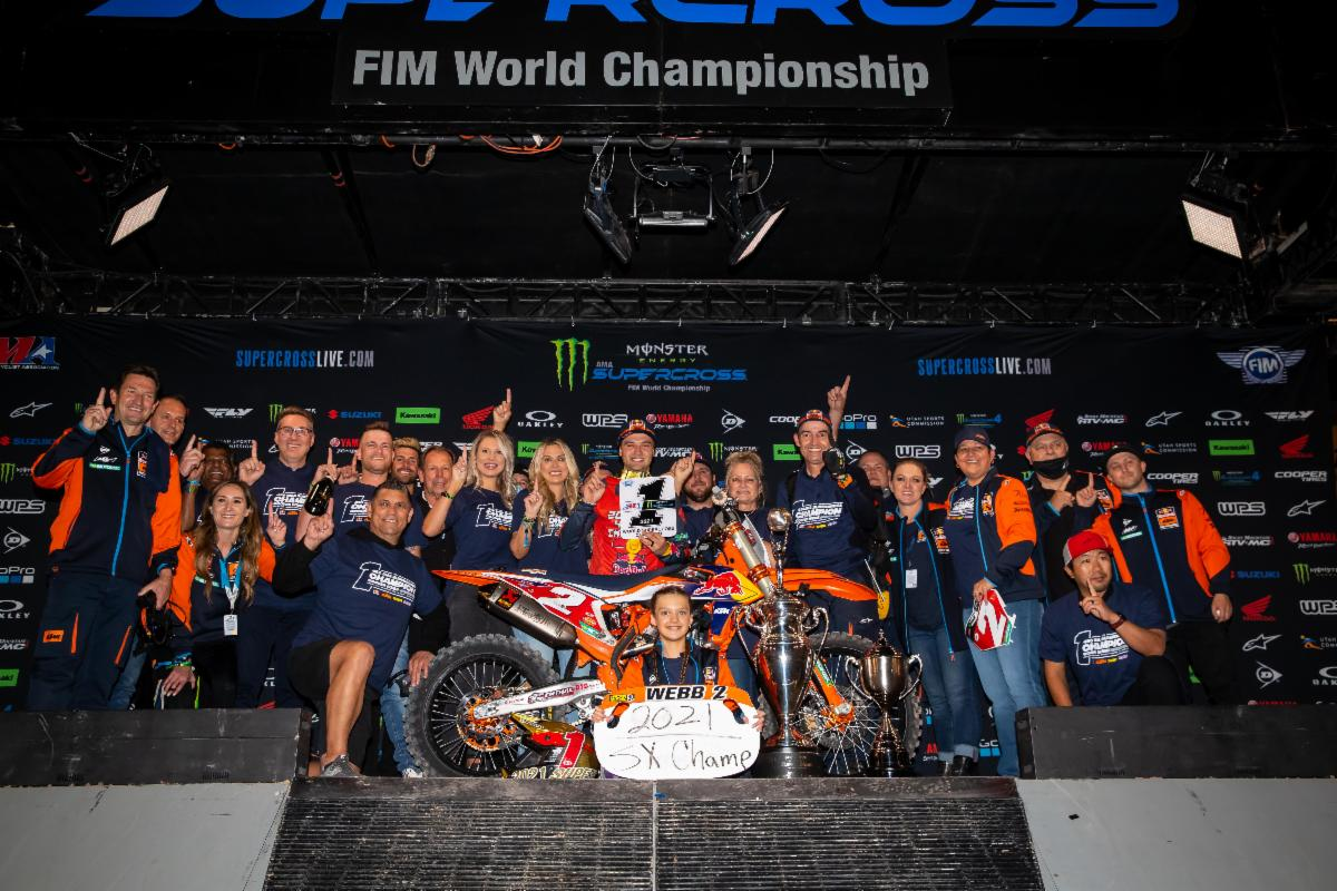 210504 Cooper Webb brought the Red Bull KTM team its second 450SX Class Championship in his three years