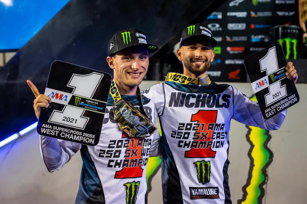 210504 Justin Cooper (left) and Colt Nichols (right) secured the 250SX Class regional titles