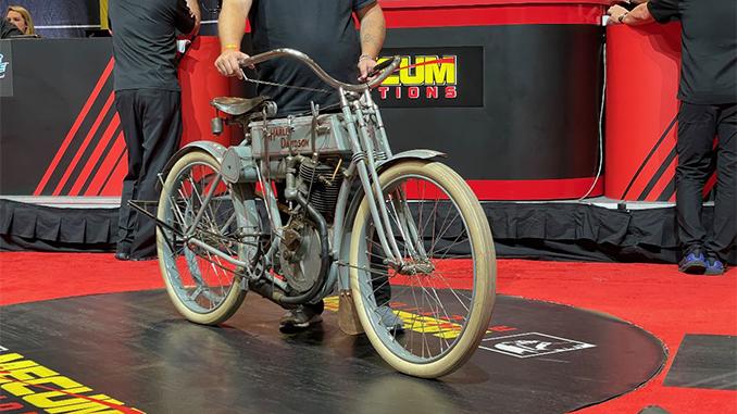 210505 1907 Harley-Davidson Strap Tank (Lot F191) sold at $297,000 (678)