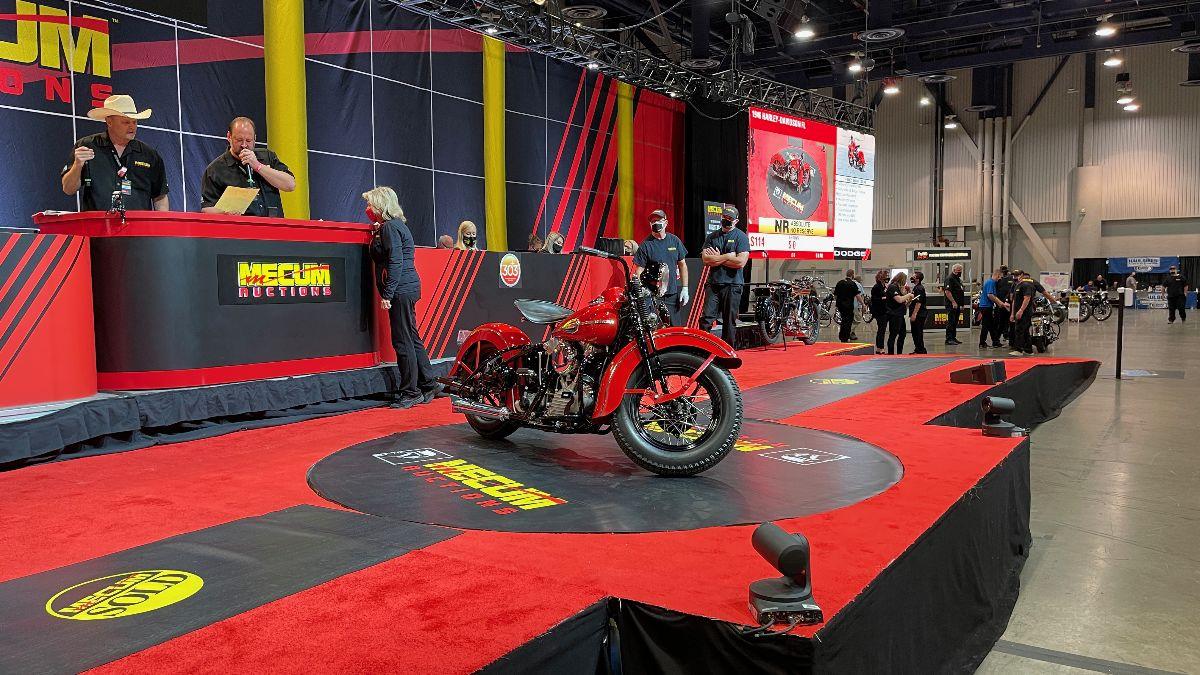 210505 1946 Harley-Davidson FL (Lot S114) sold at $220,000