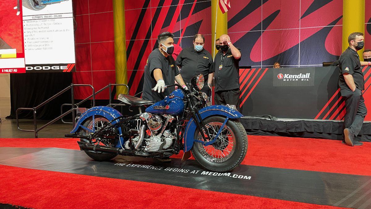210505 1947 Harley-Davidson FL (Lot S115) sold at $192,500