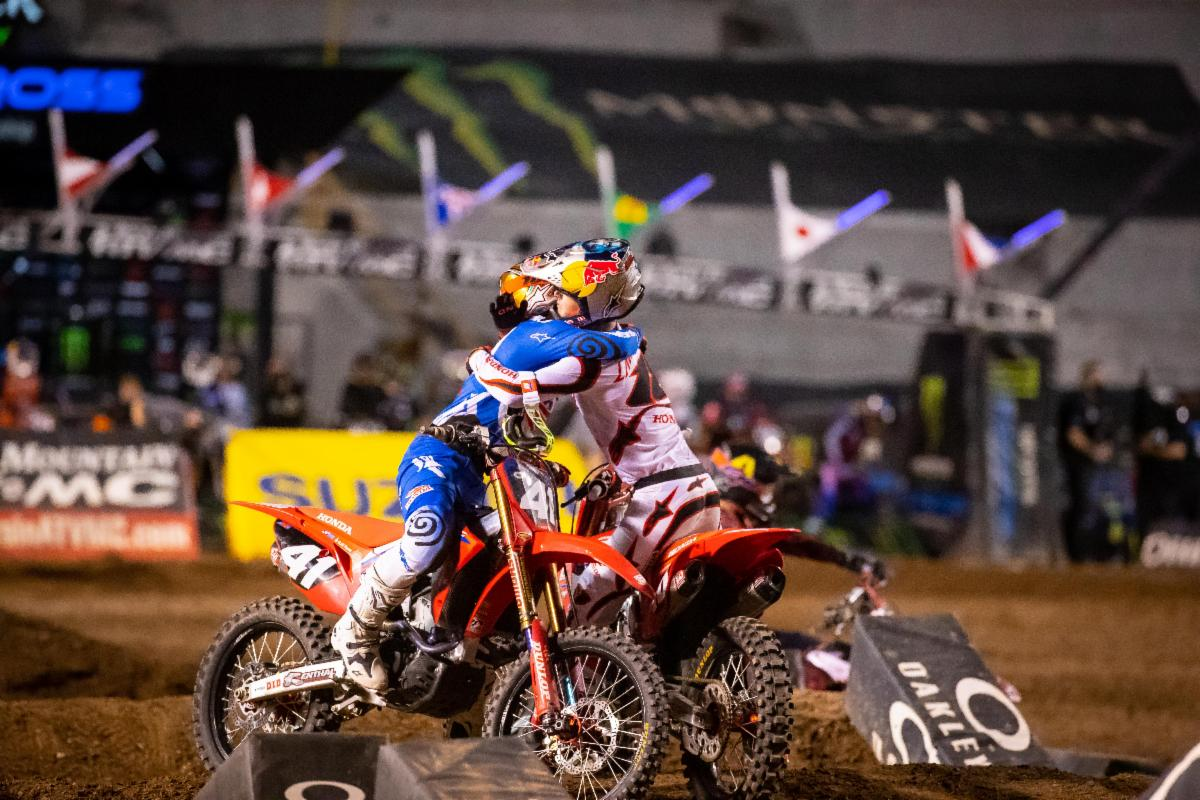 210505 Jett and Hunter Lawrence finish first and third in the Dave Coombs Sr. 250SX East:West Showdown