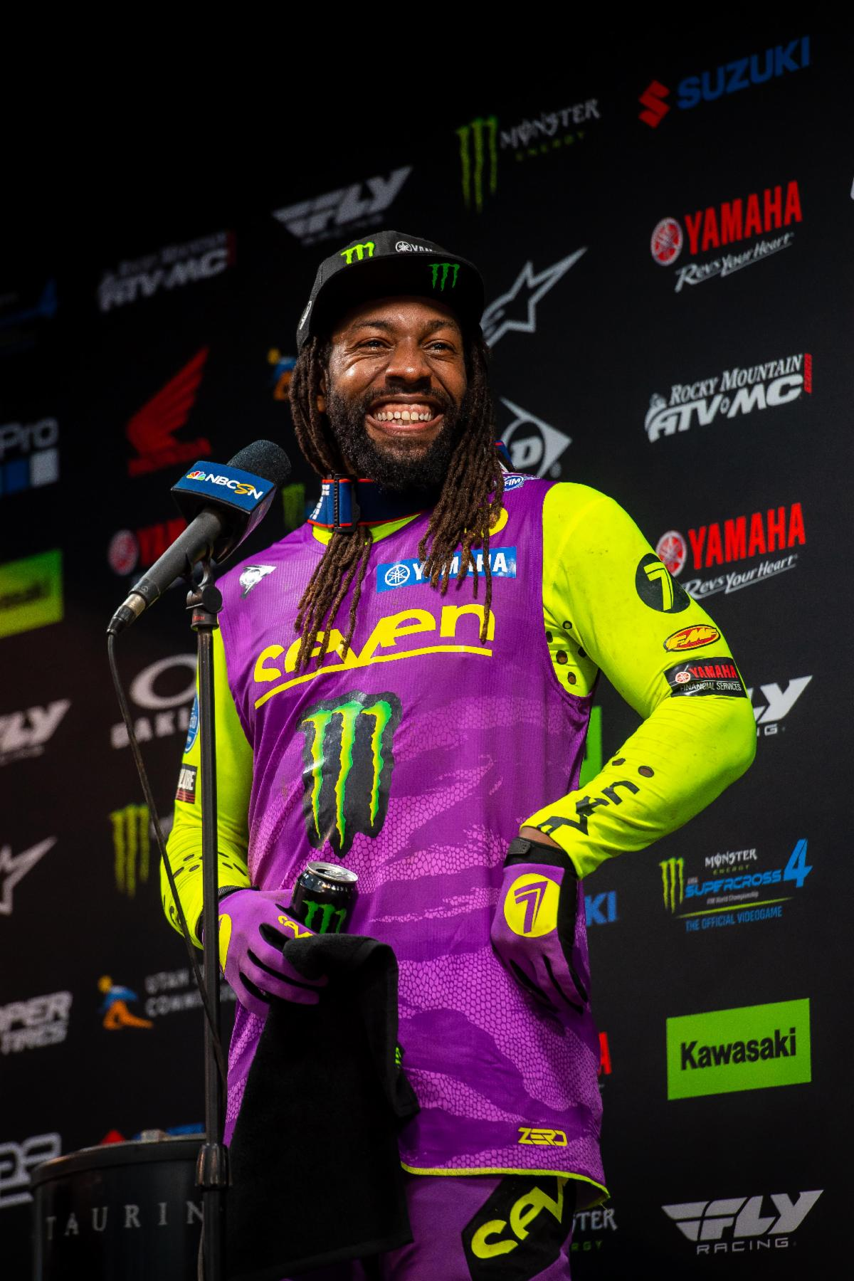 210505 Malcolm Stewart captures his first 450SX Class podium finish at Round 16