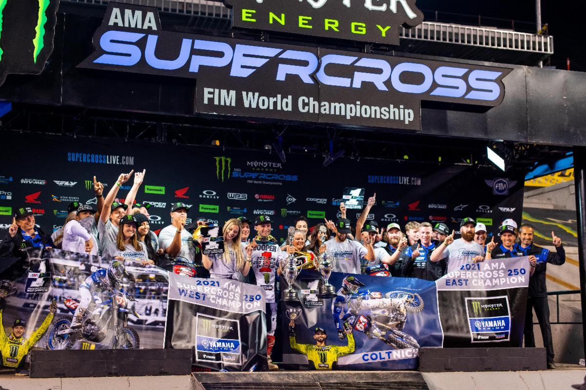 210505 The Monster Energy Star Racing Yamaha team captured both 250SX Class titles