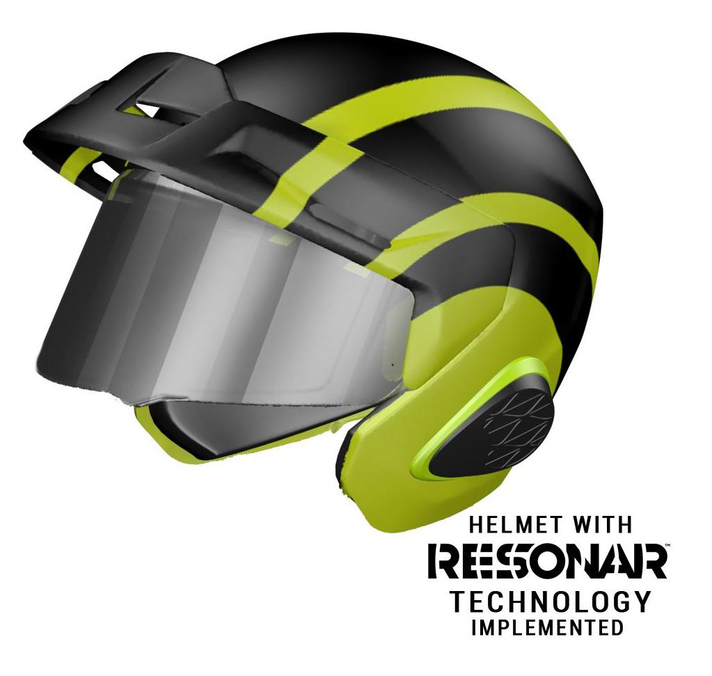 210514 RESONAR™-equipped ¾ or full-faced helmet