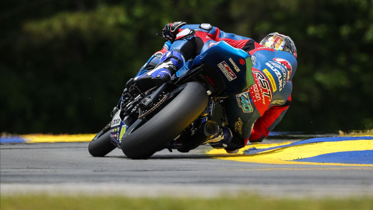 210520 Sean Dylan Kelly showed his backside to his rivals in the opening round of the 2021 MotoAmerica Supersport Series