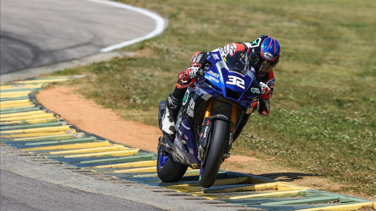 210521 Jake Gagne put his Fresh N' Lean Attack Performance Yamaha on provisional pole for tomorrow's HONOS Superbike