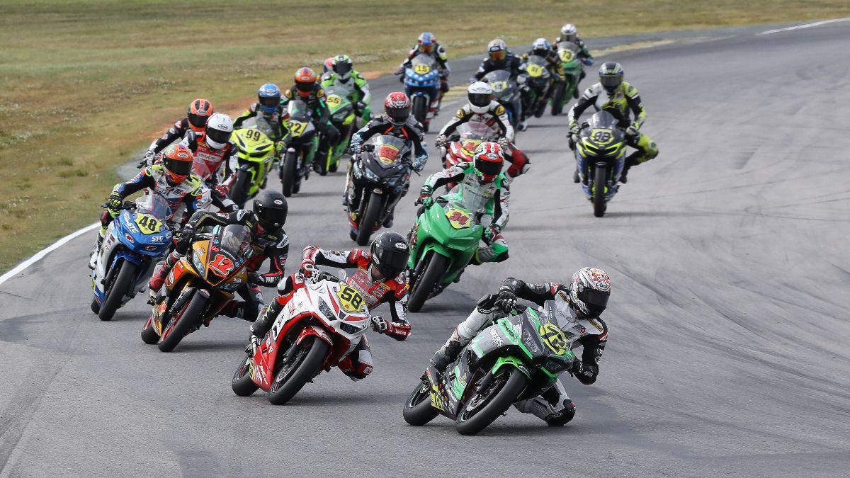210523 Ben Gloddy (72) won his second SportbikeTrackGear.com Junior Cup race