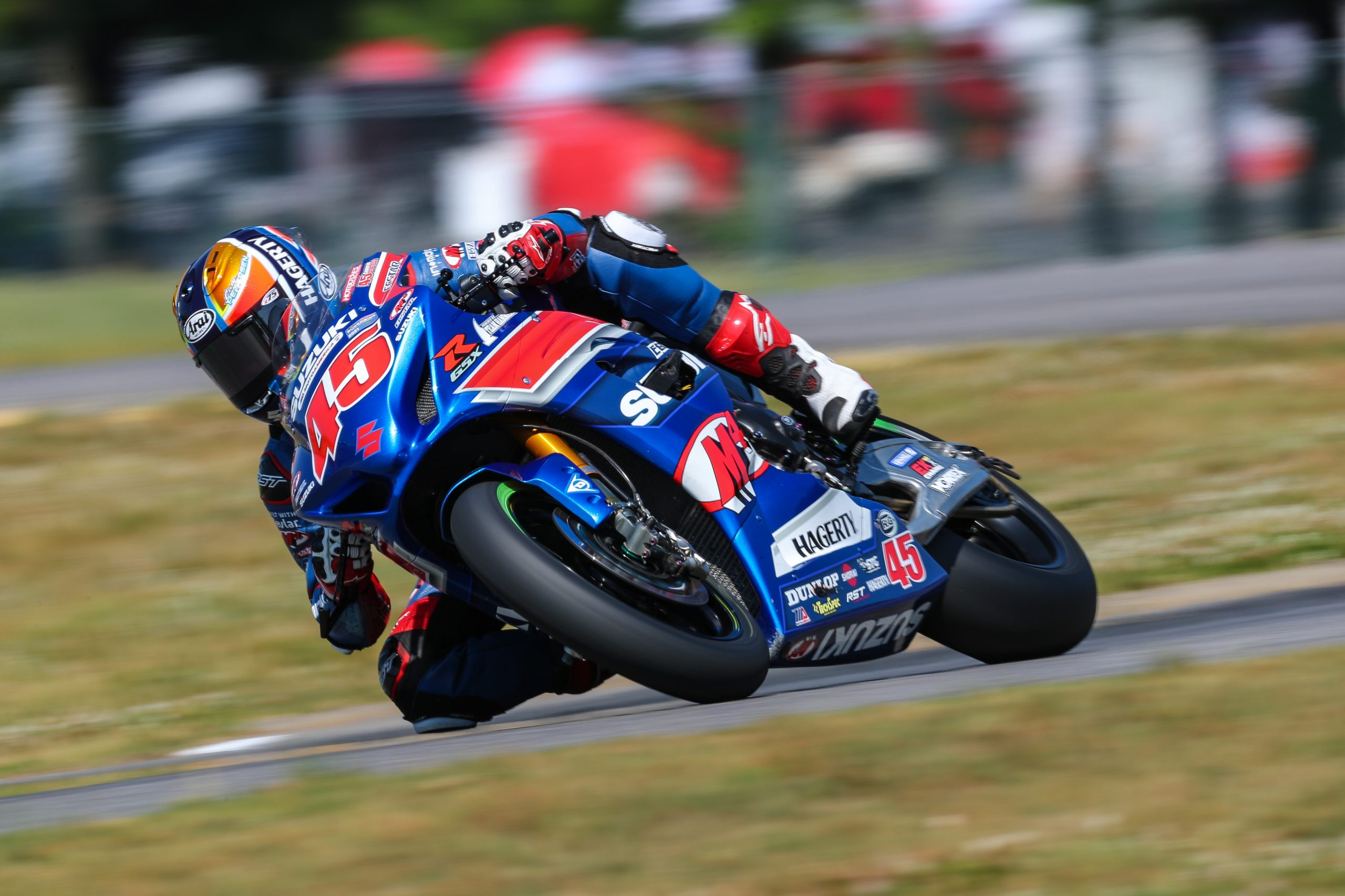 210524 Cam Petersen (45) battled hard for two impressive finishes at VIR in the Superbike class