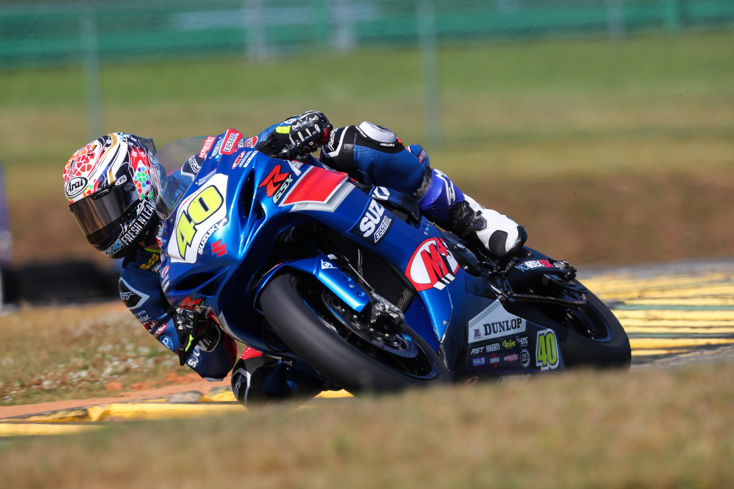 210524 Sean Dylan Kelly (40) took pole position and scored his fifth consecutive Supersport race win at VIR