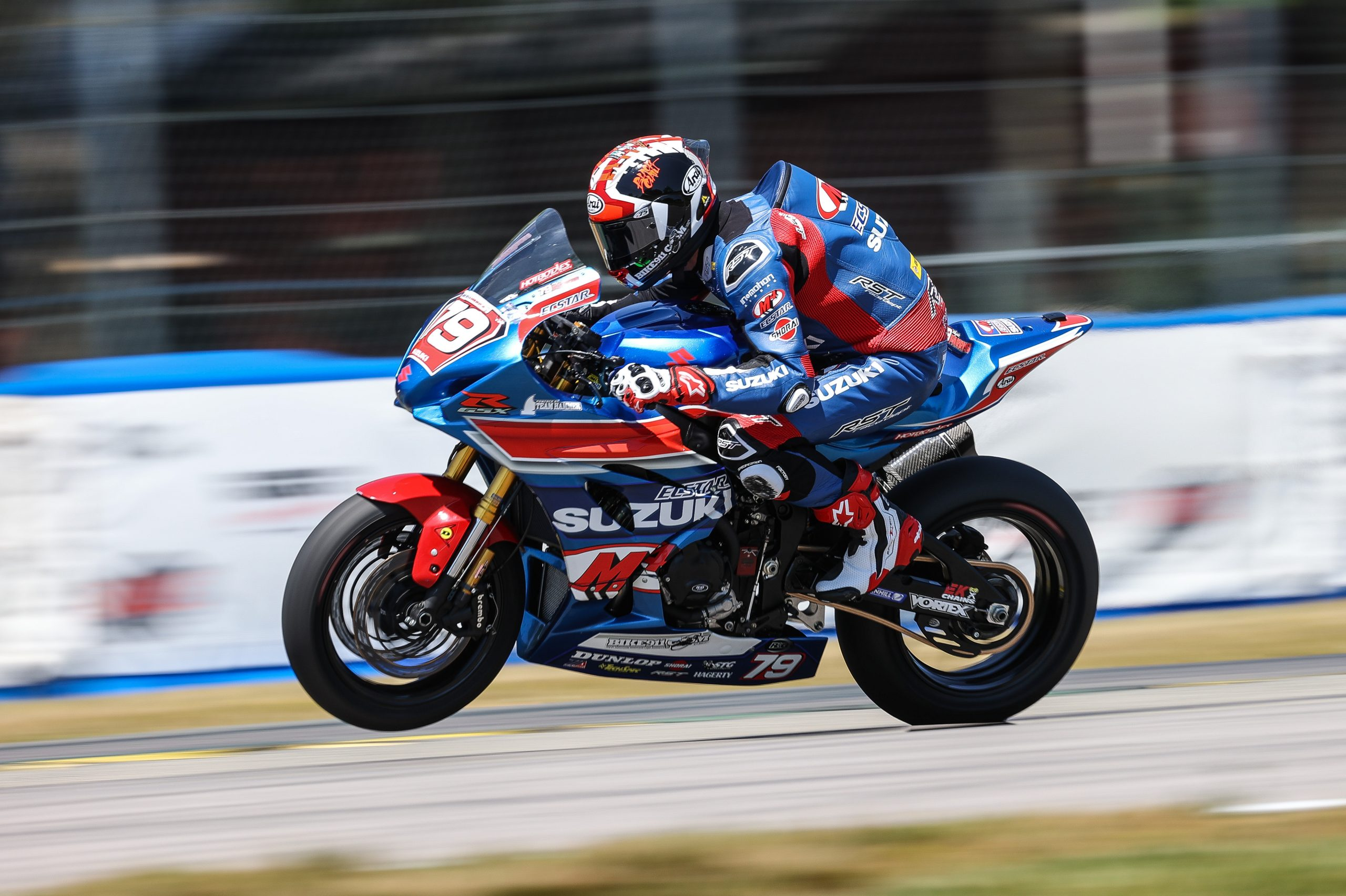 210524 Wyatt Farris (79) rode well and delivered two points scoring results on his GSX-R1000