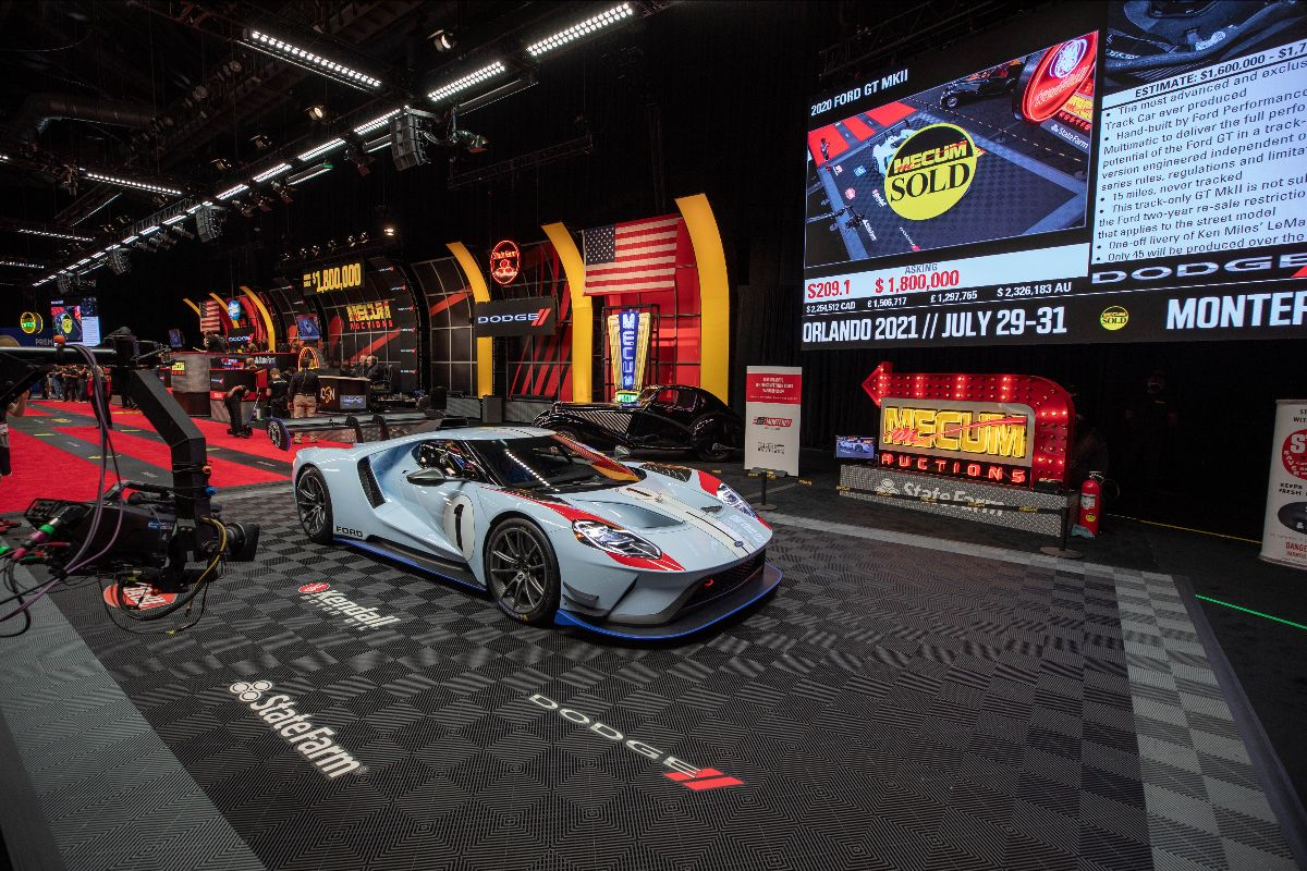 210527 2020 Ford GT MkII (Lot S209.1) sold at $1,870,000