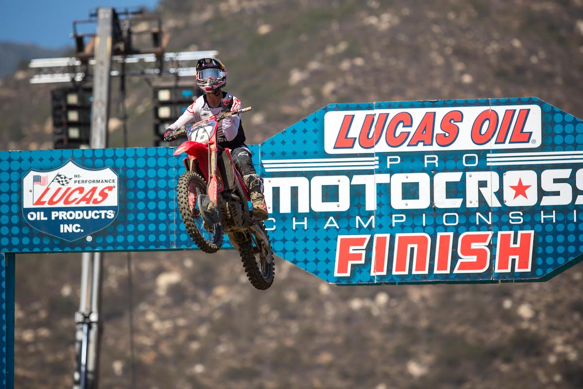 210530 Jett Lawrence began the 2021 season where he ended 2020, atop the podium in Pala