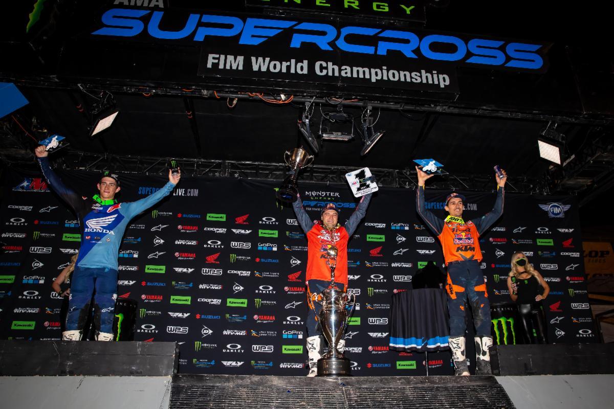 450SX Class podium - Salt Lake City