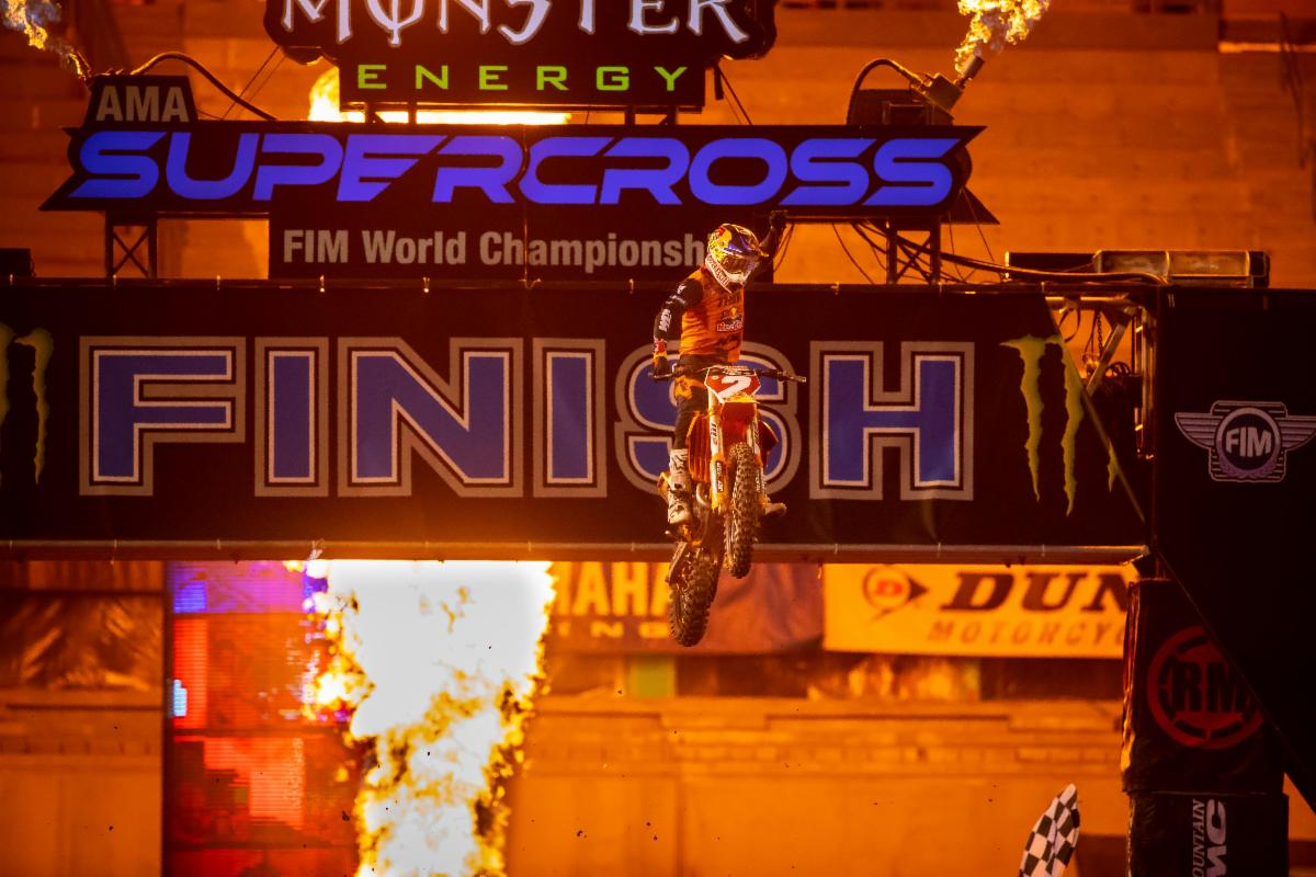 It was Cooper Webb's night and Cooper Webb's year