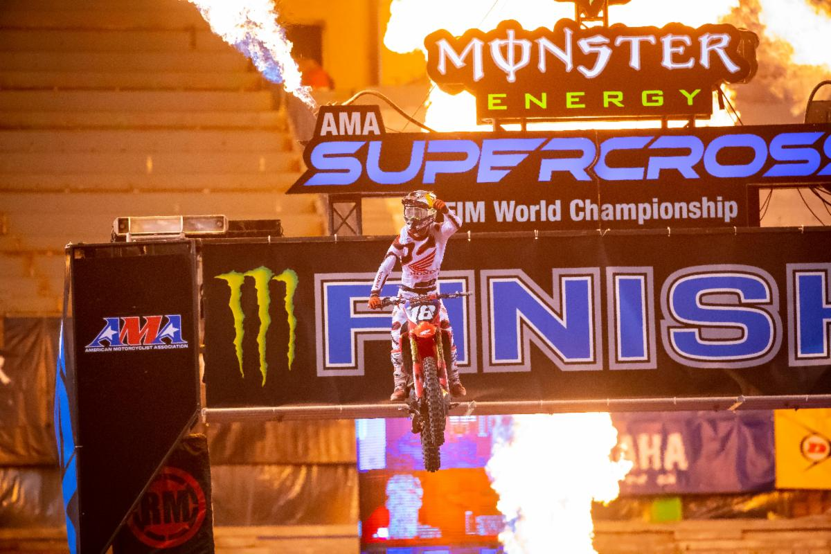 Jett Lawrence took his third win of the season