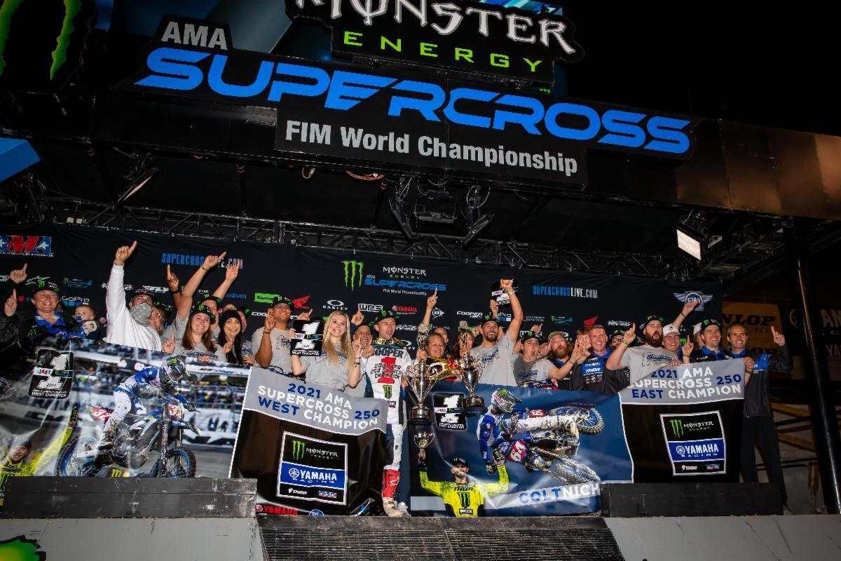 The Monster Energy Star Racing Yamaha team captured both 250SX Class titles