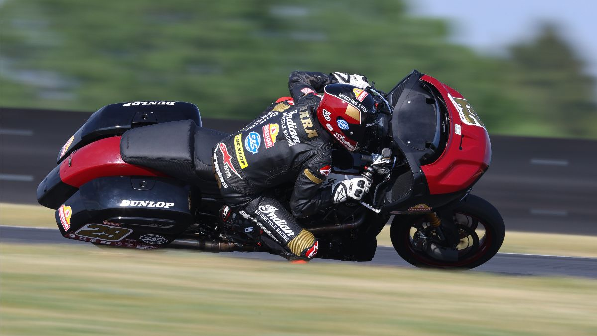 210612 Tyler O'Hara was the fastest of the King Of The Baggers on a scorching hot Friday at Road America