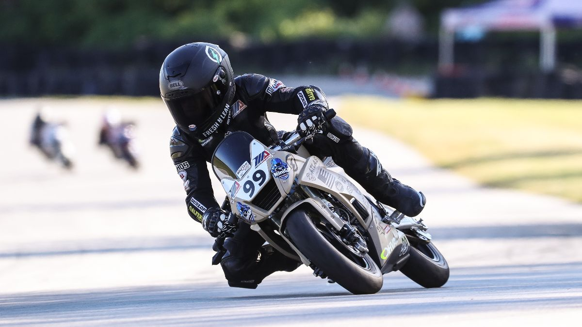 210613 Jessie James Shedden won the 190cc class in the opening round of the Mini Cup by Motul on Saturday afternoon at Road America