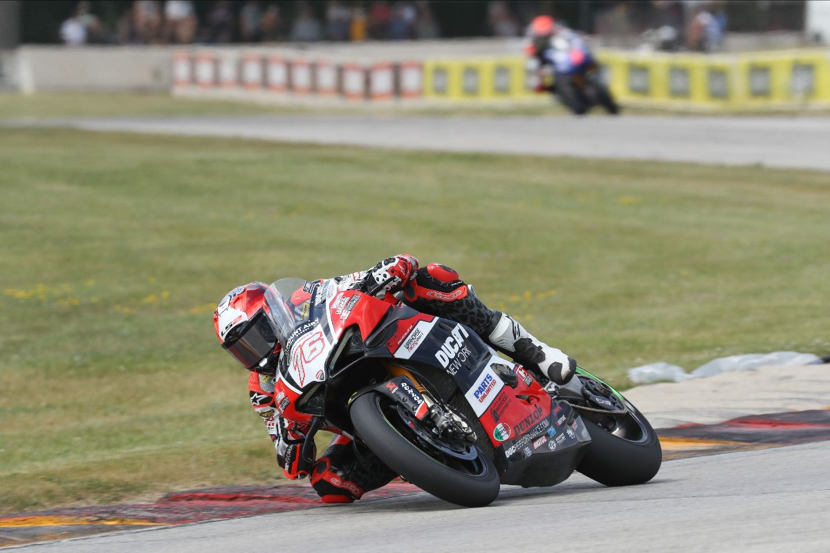 210613 Loris Baz earned his second podium of the season when he passed both Bobby Fong and Cam Petersen
