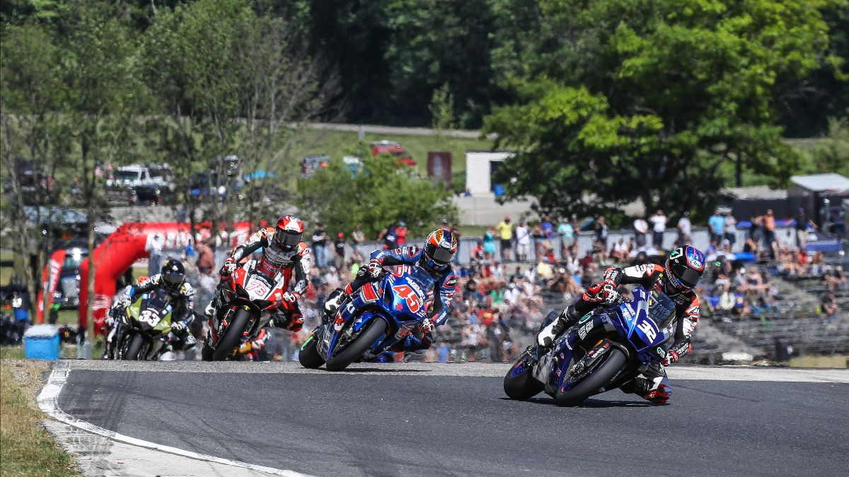 210614 Jake Gagne (32) was unstoppable again at Road America as he won his fifth straight HONOS Superbike race on Sunday