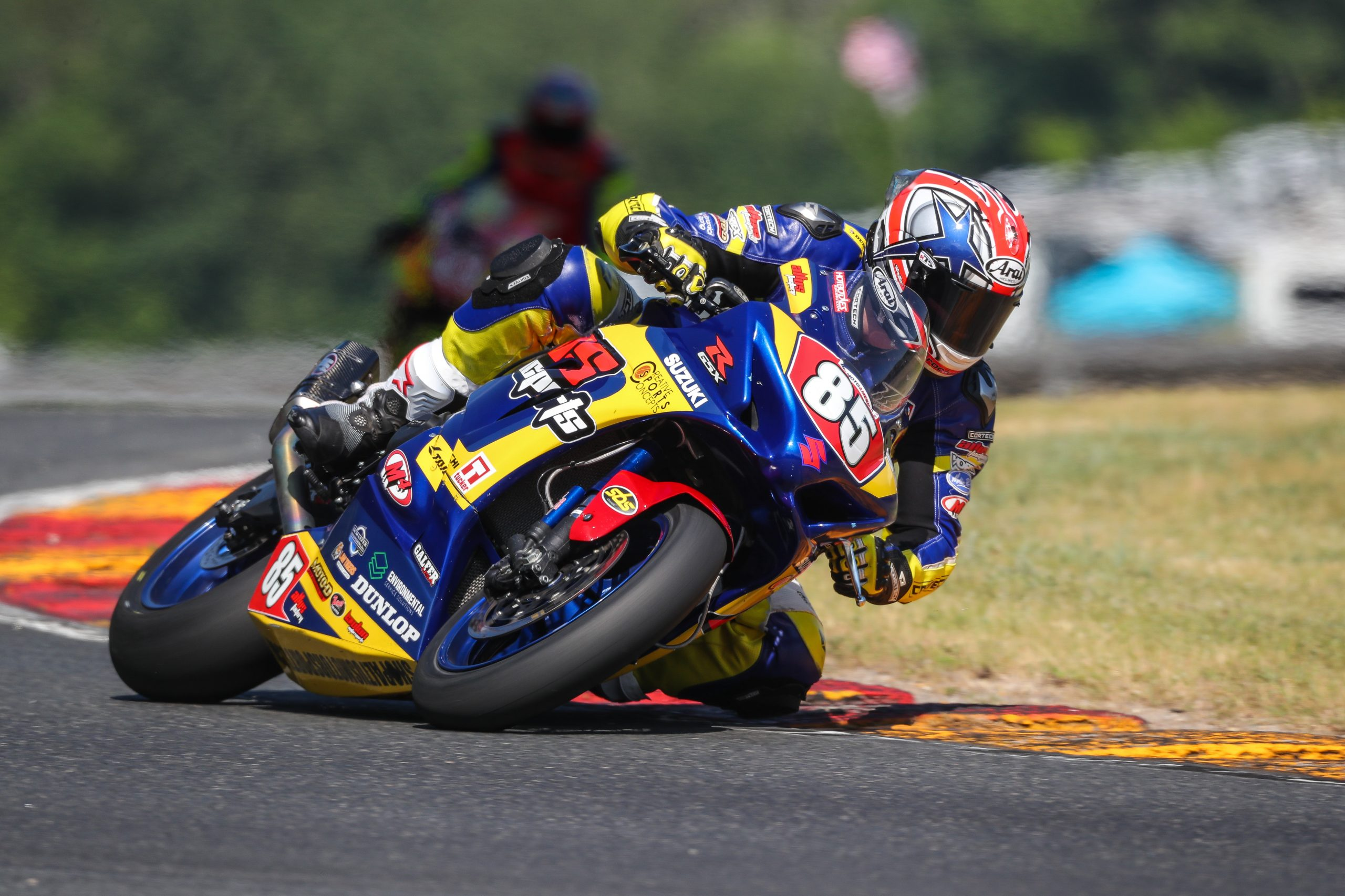 210614 Jake Lewis (85) earned a hard-fought Stock 1000 victory on his race-winning Suzuki GSX-R1000