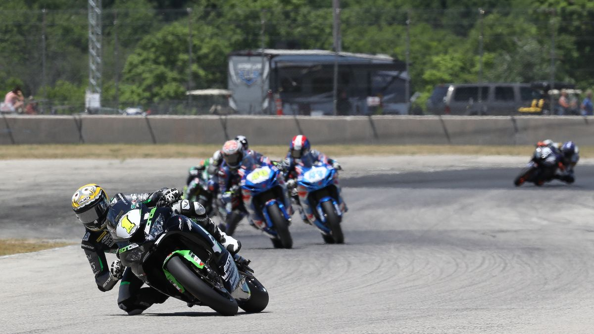 210614 Richie Escalante was untouchable in the Supersport race on Sunday at Road America