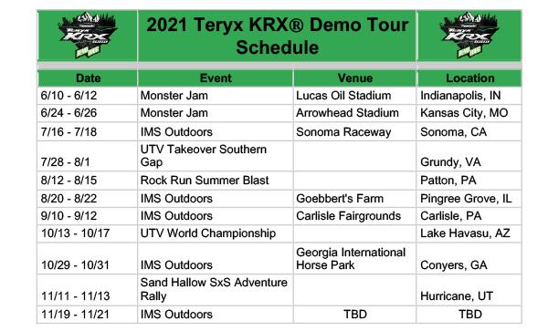 210615 Teryx KRX 1000 Demo Tour Coming to a Town Near You