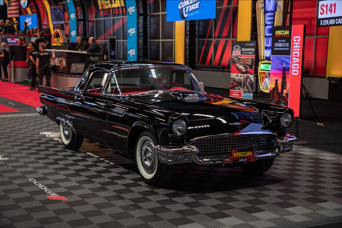 1957 Ford Thunderbird F-Code Four-Time Gold Medallion Winner (Lot S141) sold at $203,500
