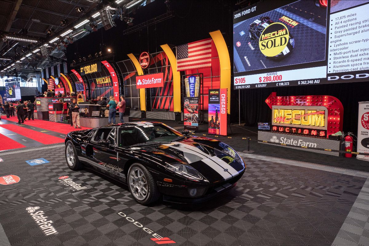 2005 Ford GT 5.4L:550 HP, All 4 Options (Lot S105) sold at $302,500