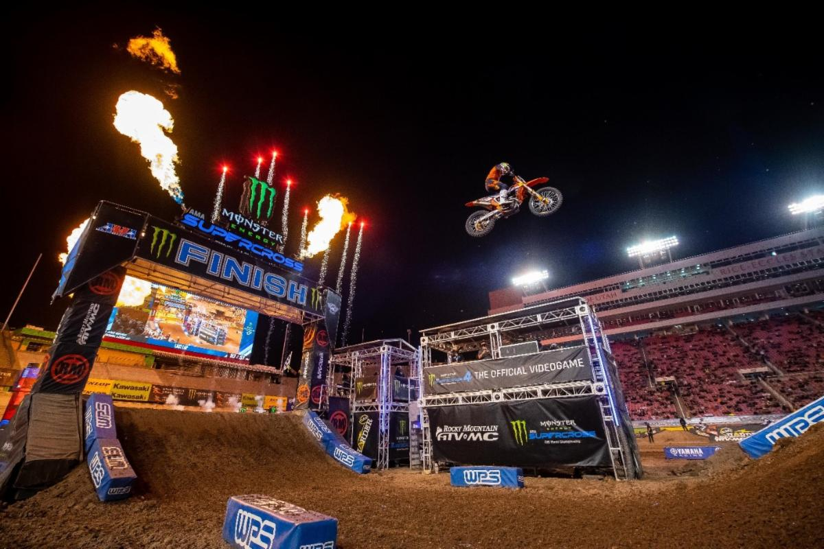 210622 Red Bull KTM athlete Cooper Webb winning his eighth and final race of the 2021