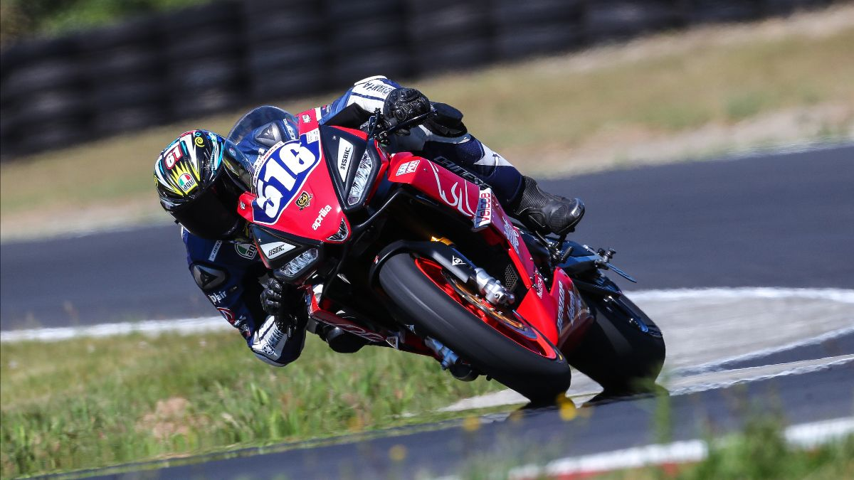 210626 Anthony Mazziotto decided to ride in the Twins Cup class and put his Veloce Racing Aprilia on provisional pole