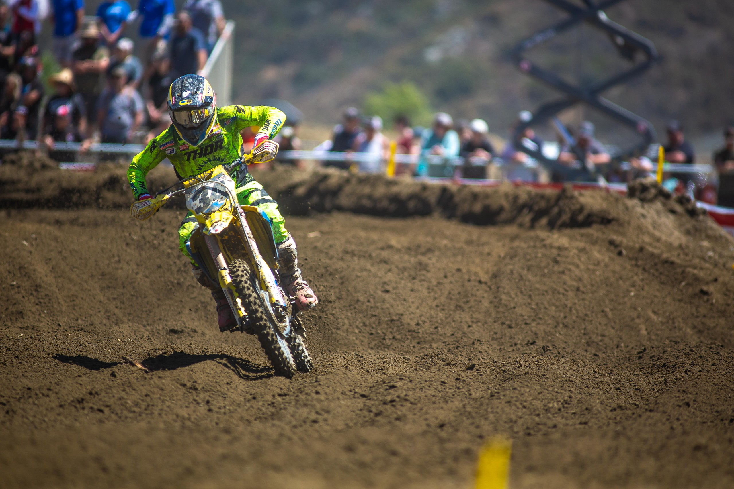 Max Anstie (34) kicked off his 2021 motocross season with two solid performances at Pala