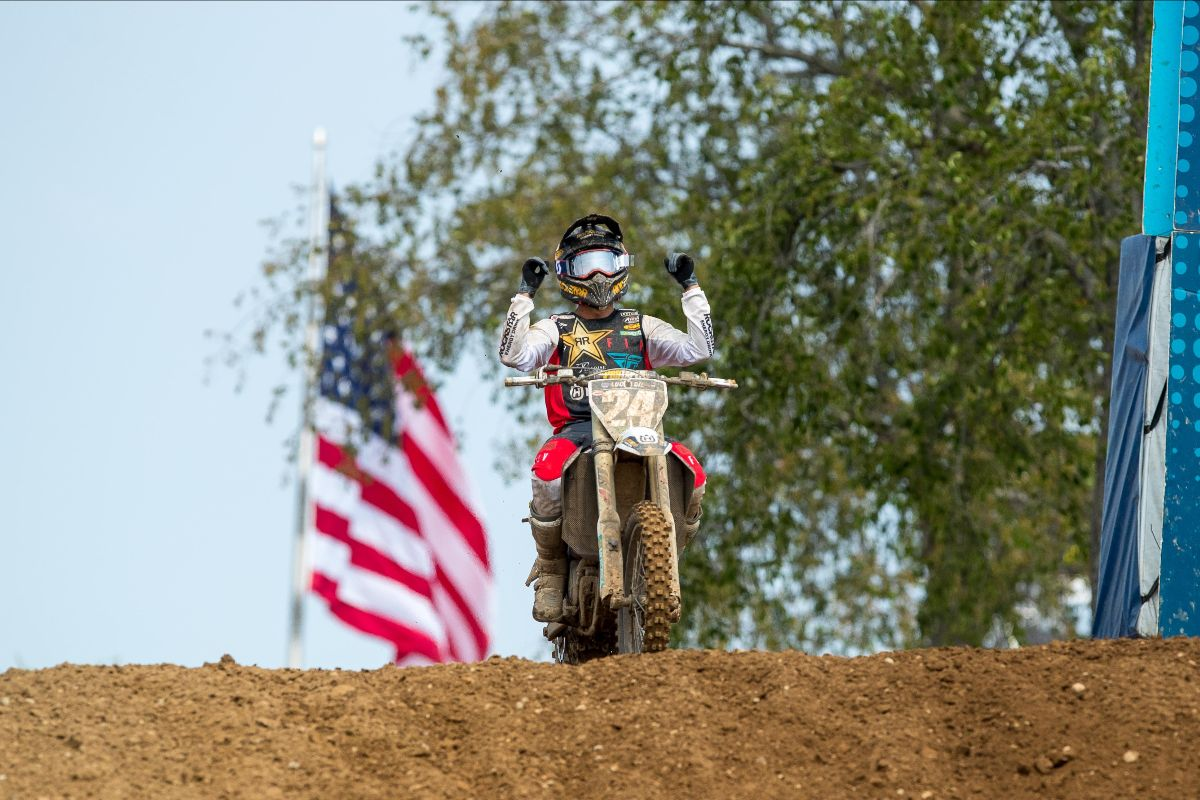 210704 For the second consecutive year, RJ Hampshire emerged with a RedBud National win
