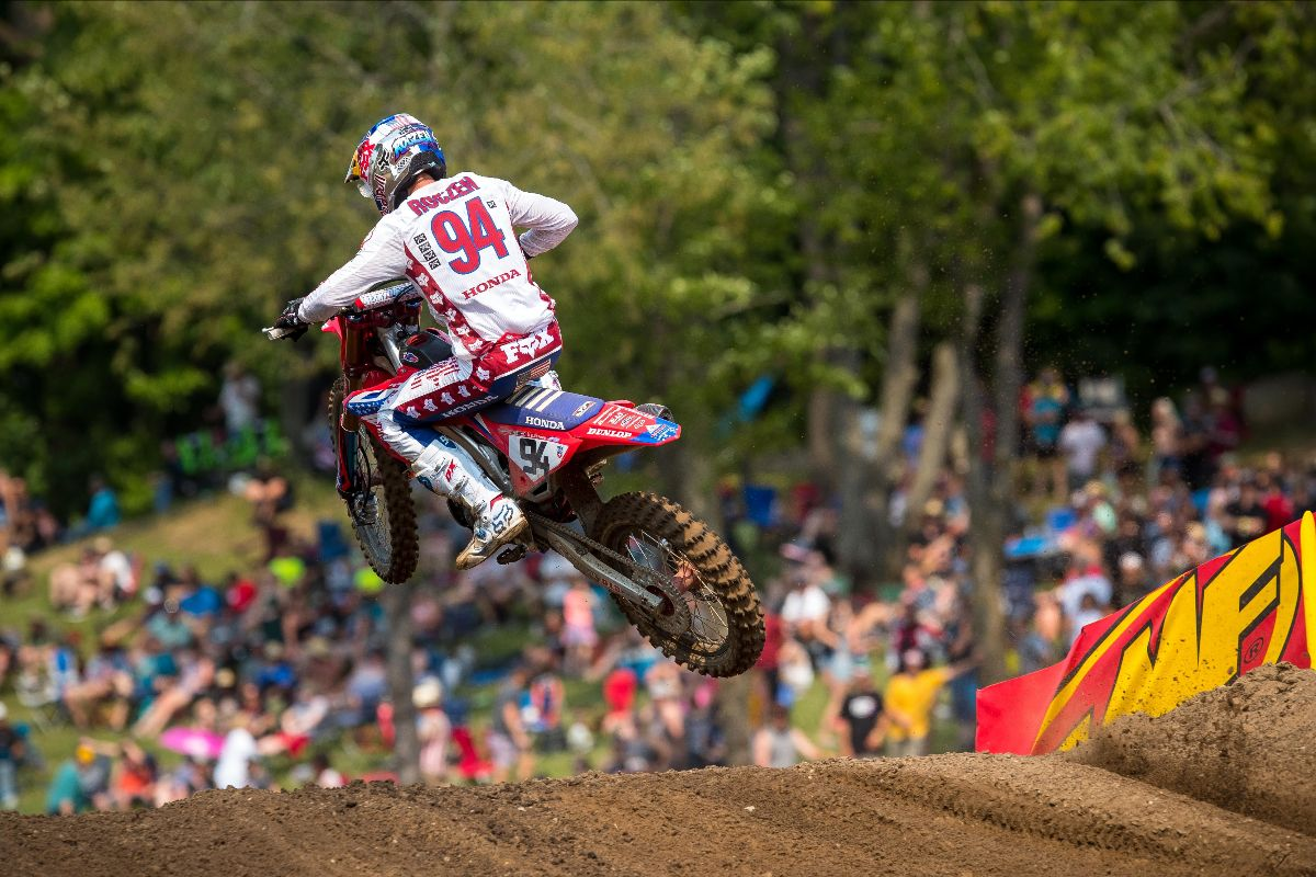 210704 Ken Roczen rebounded from a hard crash in Moto 2 to finish fourth overall