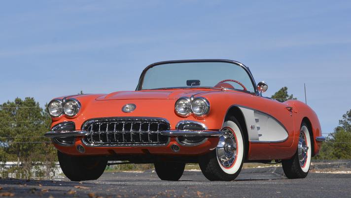 210707 1958 Chevrolet Corvette Convertible 283:230 HP, 4-Speed (Lot S163)