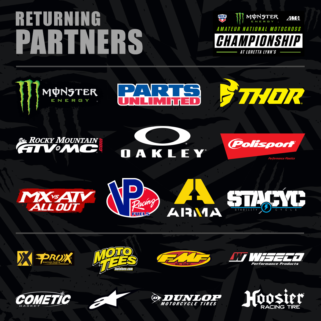 210729 2021 Monster Energy AMA Amateur National Motocross Championship Welcomes Returning Sponsors to the 40th Annual Event