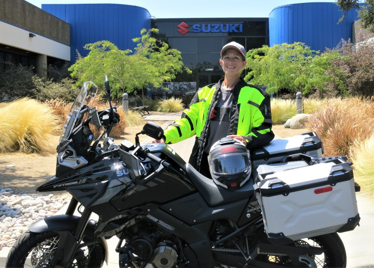 Alisa Clickenger and Women's Motorcycle Tours Announces Partnership with Suzuki