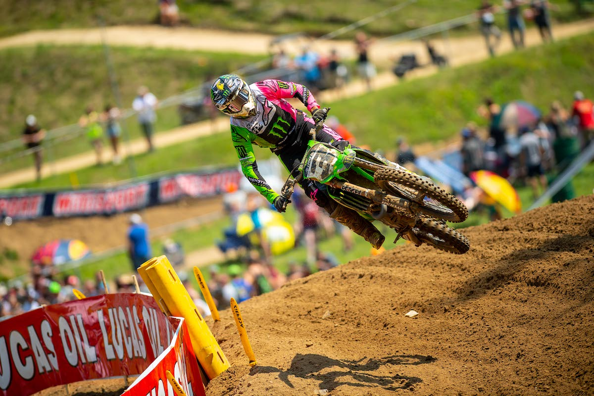 Eli Tomac earned his second runner-up finish of the season