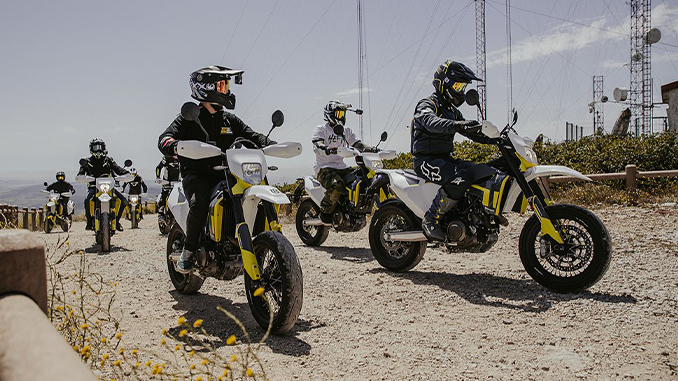HUSQVARNA MOTORCYCLES 701 SUPERMOTO RIDE OUT MAKES TRIUMPHANT RETURN (678)