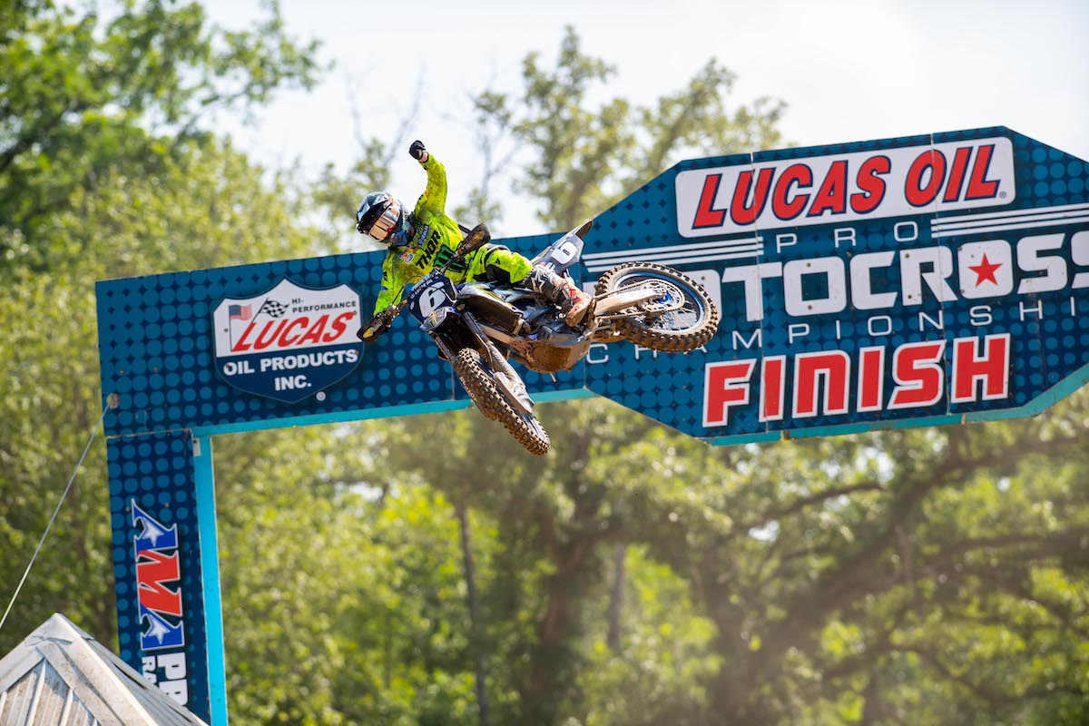 Jeremy Martin was dominant at his home track