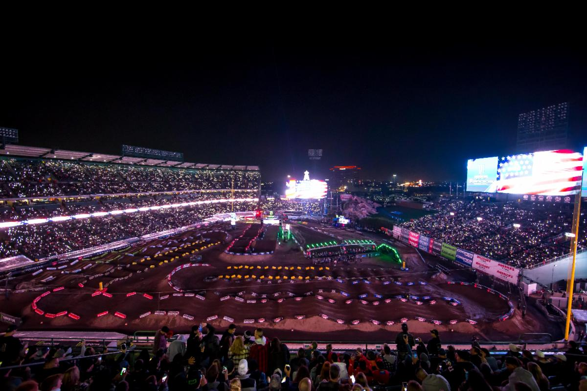 Opening ceremonies at the sold out 2020 Anaheim Opener at Angel Stadium